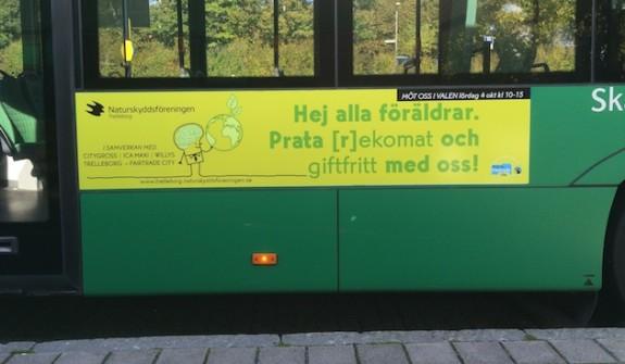 Bussreklam Trelleborg